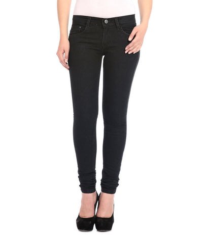 Flyjohn Black Cotton Women's Jeans - mydenimstore
