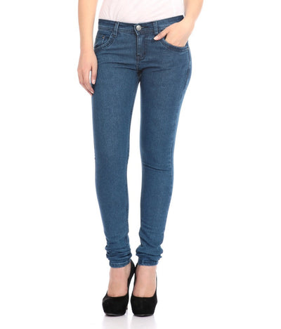 Flyjohn Cotton Women's Blue Jeans- mydenimstore