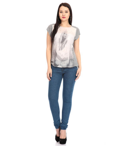 Flyjohn Cotton Women's Blue Jeans - mydenimstore