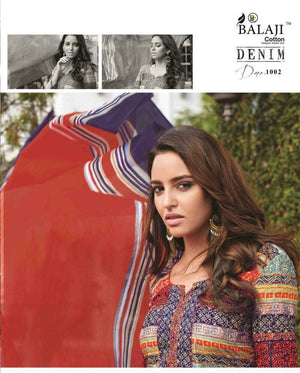 Balaji Denim Printed Cotton Designer Salwar Suit Dress Material - mydenimstore