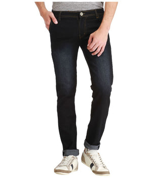 Black Slim Washed Men's Jeans - mydenimstore
