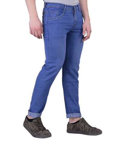 Blue Slim Fit Washed Men's Jeans - mydenimstore