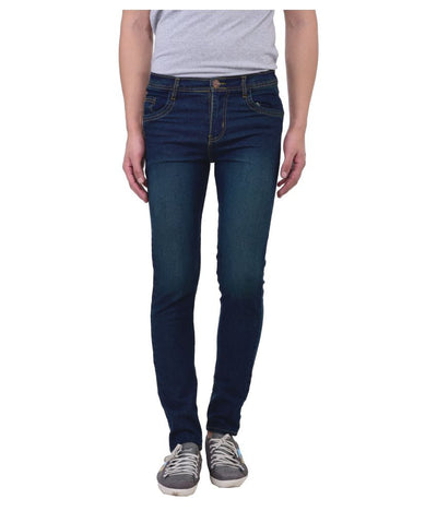 Navy Blue Slim Washed Men's Jeans - mydenimstore