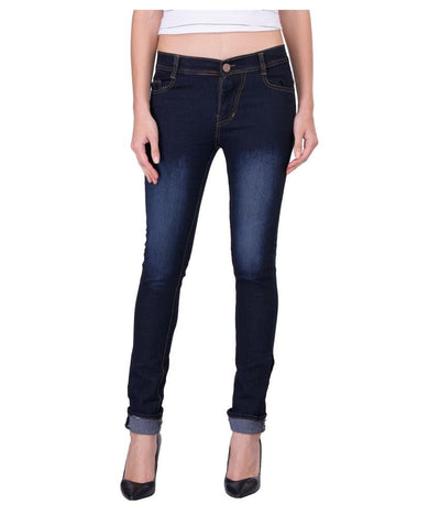 Navy Denim Lycra Jeans - mydenimstore