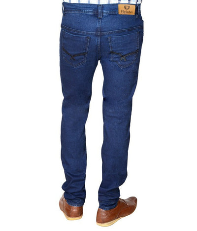 Flyjohn Trendy Blue Cotton Denim Men's Jeans - mydenimstore