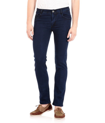 Flyjohn Men's Dark Blue Denim Jeans - mydenimstore