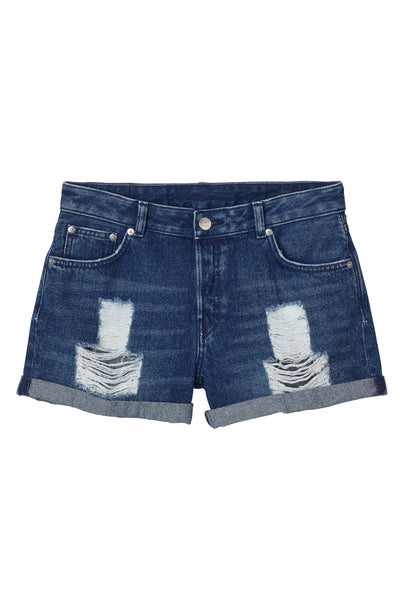 High waist Women's denim shorts - mydenimstore