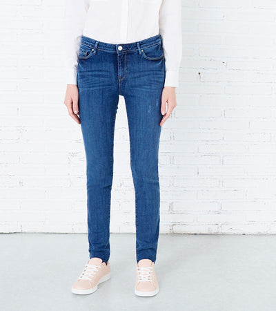 Women's Push up Skinny Blue Jeans - Springfield - mydenimstore