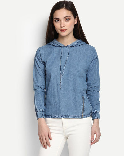 Blue Leta Denim Sweatshirt