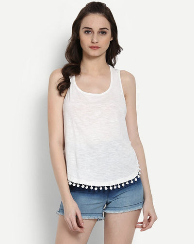 Cream Arabella Sleeveless Casual Women's Top