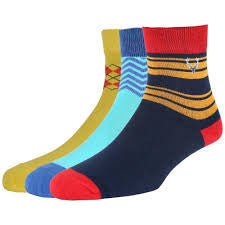 Allen Solly Men's Socks - Pair of 3(Multi-coloured)