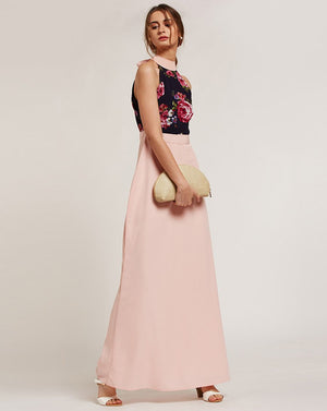 Rose Splash Maxi Dress