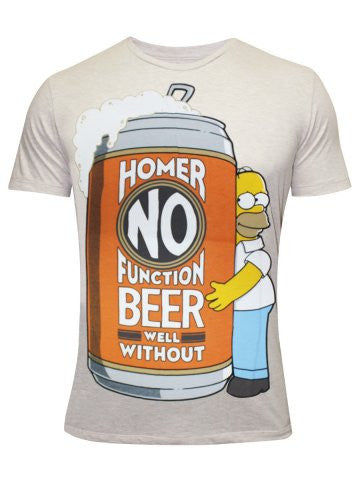 The Simpsons Men's Round Neck Off-White T-Shirt - mydenimstore