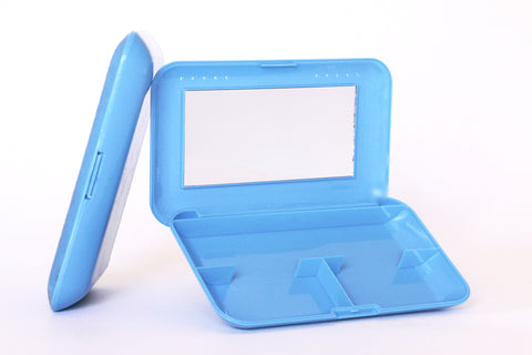 Elegant Blue Cosmetic Mirror Case