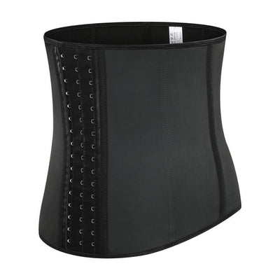 Steel Boned Waist Trainer Latex Shapewear Slimming Belt