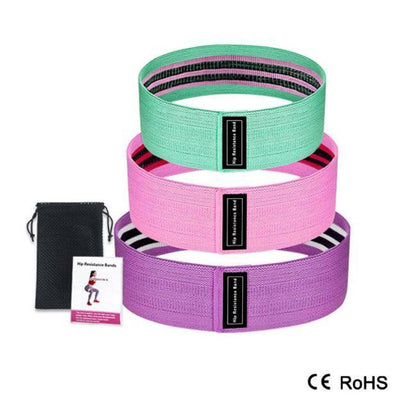 3 Piece Fitness Booty Bands Resistance Bands Pack