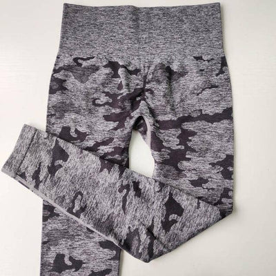 Camo Seamless High Waist Scrunch Booty Leggings Scrunch Leggings