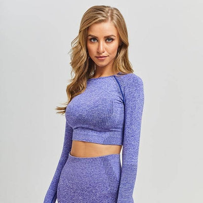 Vital Seamless long sleeve Yoga Crop tops for Women