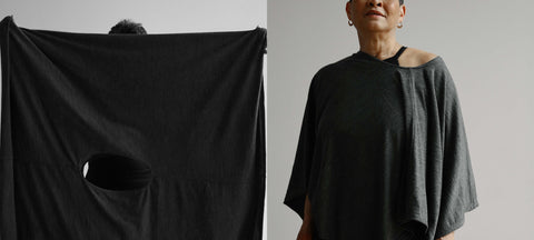how to wear versa throw as poncho