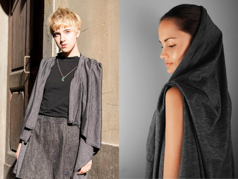 wear the versa throw as a cape with hood