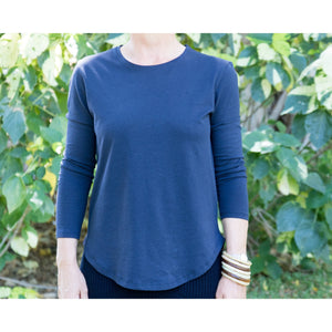 Long Sleeve T Shirt  - Saddle Hem
