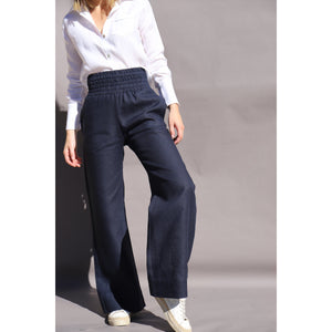 Load image into Gallery viewer, NAVY Olivia Palazzo Pant - LONGRASS STYLE