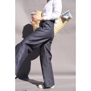 Load image into Gallery viewer, DENIM Olivia Palazzo Pant - LONGRASS STYLE