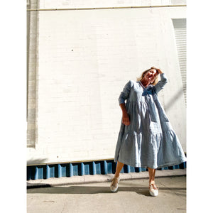 Motion Tie Dress -  Duck Egg Blue
