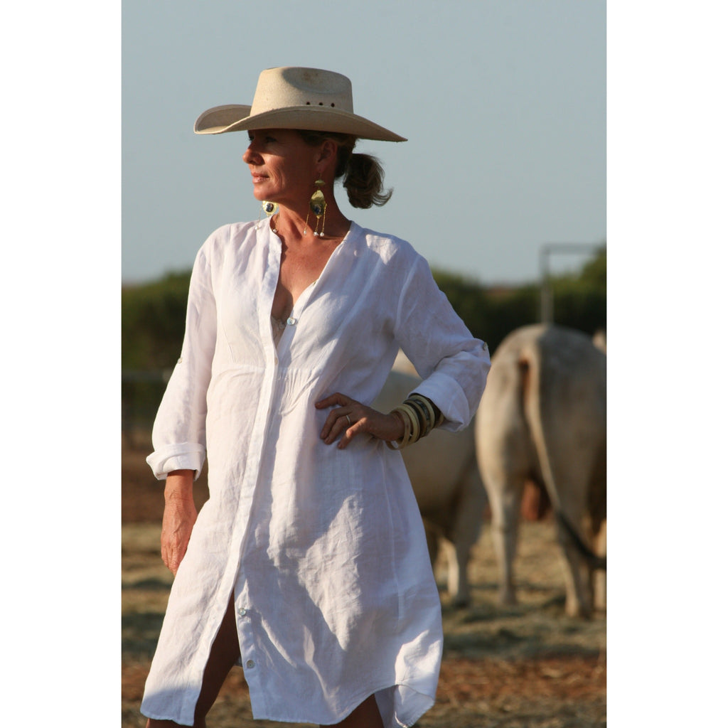 Linen Shirt Dress 30% DISCOUNT - LONGRASS STYLE