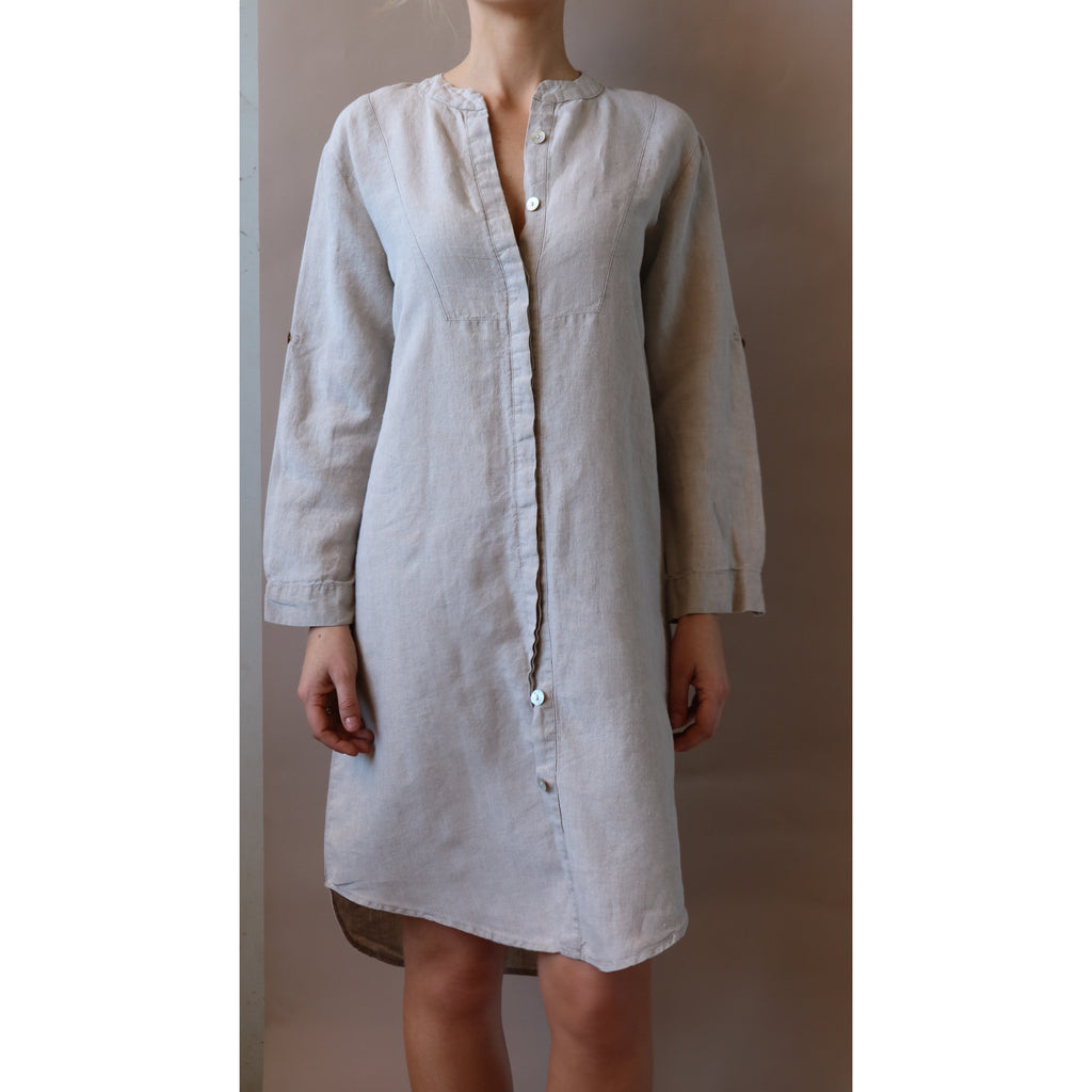 Linen Shirt Dress - LONGRASS STYLE