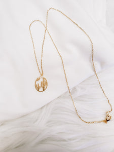 Cactus Sunset Necklace - Rose Gold