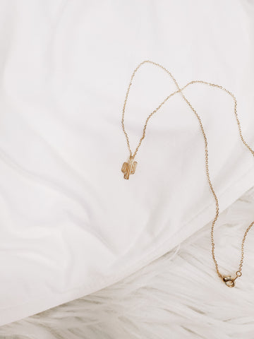Gold Cactus Necklace