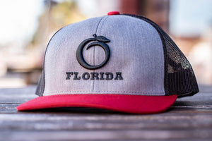 Florida Heritage Hat Gray/Red/Black/Black