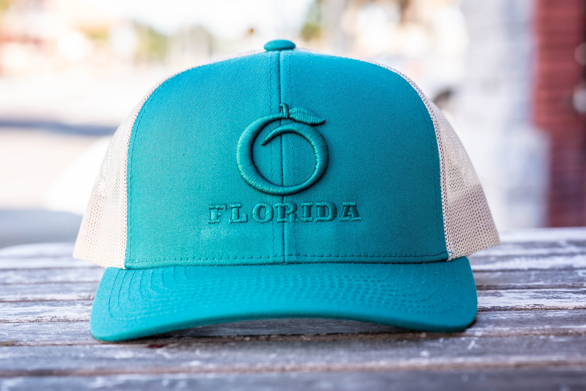 Florida Heritage Hat Teal/Teal/Cream