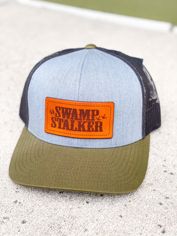Swamp Stalker Leather Patch - Green