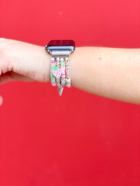 Strawberry Apple Watch Band - Pink Confetti