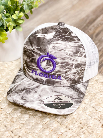 Florida Heritage Hat - Gray Water/Purple/White