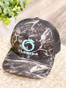 Florida Heritage Hat - Black Water/Teal/Black
