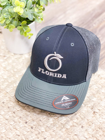 Florida Heritage Hat - Fitted Black/Gray/Gray