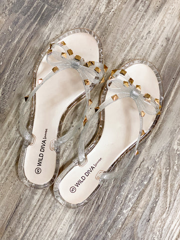Gabby Studded Bow Sandals *SIZES 5&6