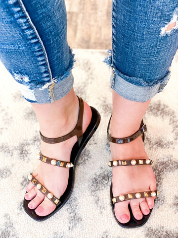 Cierra Jelly Sandals - Black
