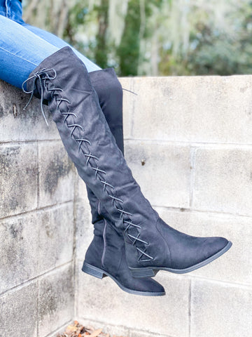 Brody Lace Up Boots - Black