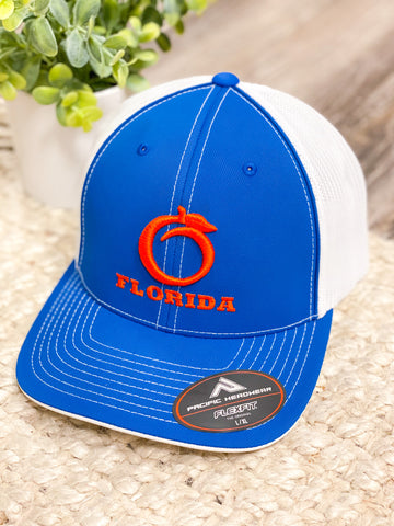 Florida Heritage Hat - Fitted Royal/Orange/White