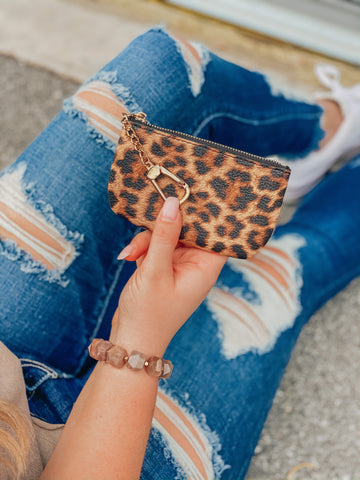Leopard Luxe Coin Purse