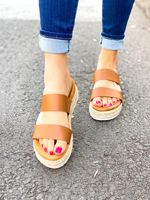 Lauren Sandals - Cognac
