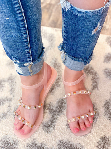 Cierra Jelly Sandals - Blush