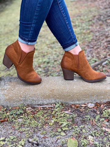 Megan Booties - Cognac