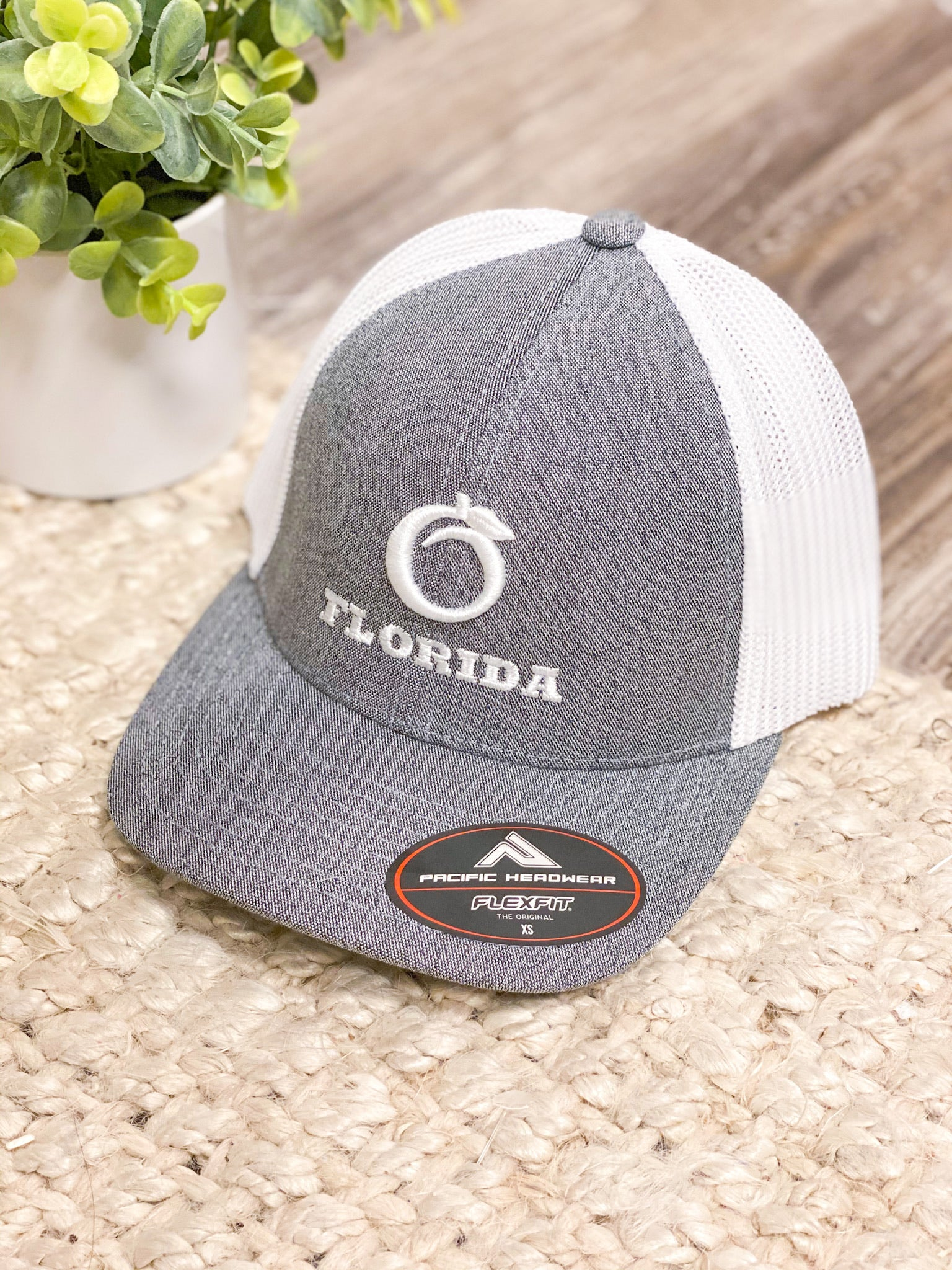 *YOUTH* Fitted Florida Heritage Hat - H.Gray/White/White