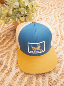 Florida Heritage Hat Deer Patch - Blue