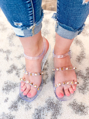 Cierra Jelly Sandals - Clear SIZES 5.5-9